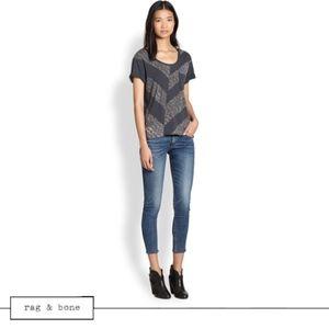 rag & bone Skinny Capri Jeans  in Sonoma